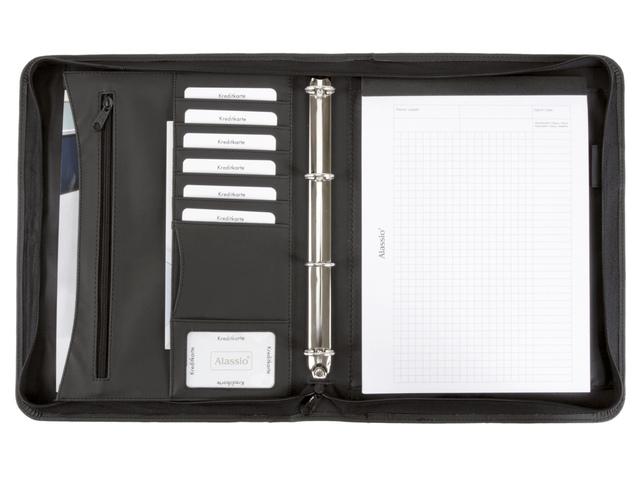 ,Organiser Alassio A4 kunstleer zwart