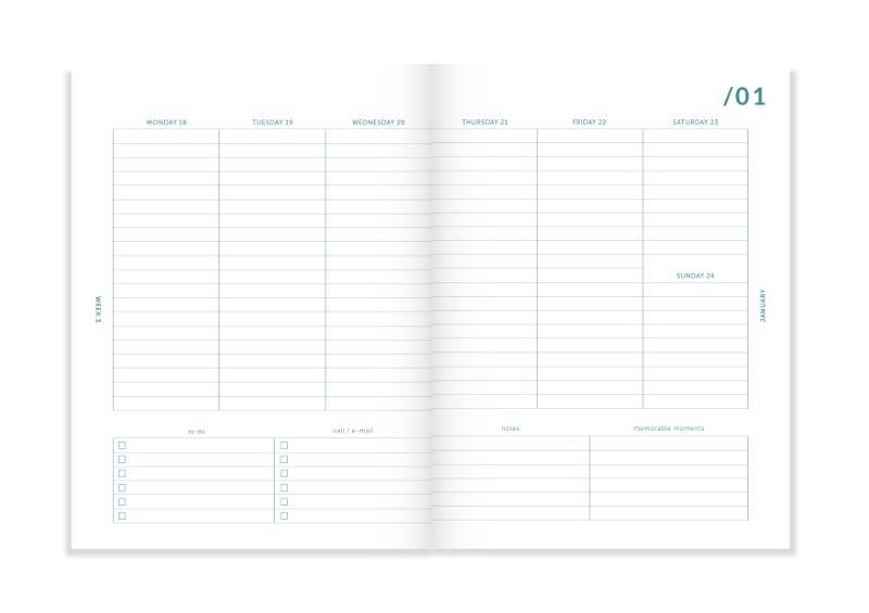 ,My Journal Agenda 2021 - Mintgroen