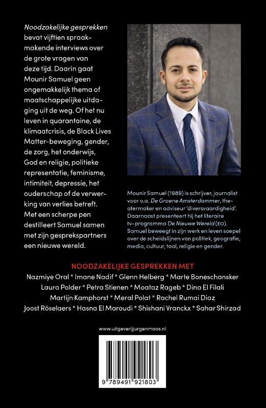 Mounir Samuel,Noodzakelijke gesprekken