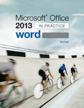 Nordell, Randy Microsoft Office Word 2013 Complete