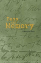 Delbo, Charlotte Days and Memory