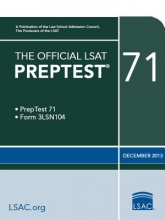 Law School Admission Council The Official LSAT Preptest 71