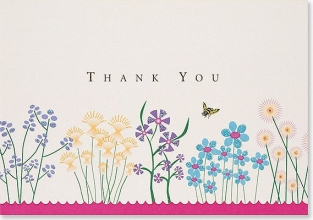 Sparkly Garden Thank You 14pk