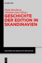 Geschichte der Edition in Skandinavien