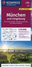 , KOMPASS Fahrradkarte München und Umgebung 1:70.000, FK 3334