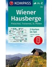 Kompass-Karten Gmbh , Wiener Hausberge, Pielachtal, Traisental, St. Pölten 1:50 000