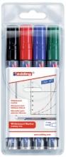 , Viltstift edding 250 whiteboard rond ass 1.5-3mm etui à 4st