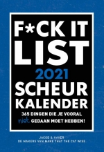 , SCHEURKALENDER 2021 F*CK IT  - FSC MIX CREDIT