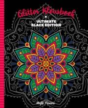 , Kleurboek Interstat volwassenen glitter black edition night flowers