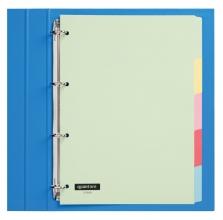 , Tabbladen Quantore 4-gaats 5-delig assorti karton