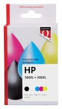 , Inktcartridge Quantore HP CC641EE CC644EE 300XL zwart + kleur