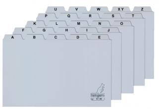 , Alfabet HF2 180x235mm PP grijs