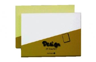 , Kaart dubbel papyrus design 105x148mm ivoor