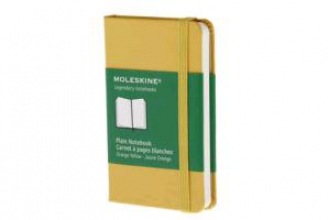 Moleskine Plain Notebook Orange Yellow
