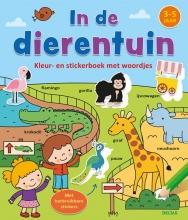ZNU , Kleur-en stickerboek met woordjes - In de dierentuin (3-5 j.)