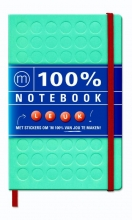100% notebook large blue (6 ex.)