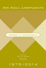 , Jurisprudentie Goederen- & insolventierecht 1975-2014