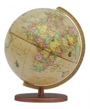 , Globe Columbus Renaissance houten voet 30cm 603016/H