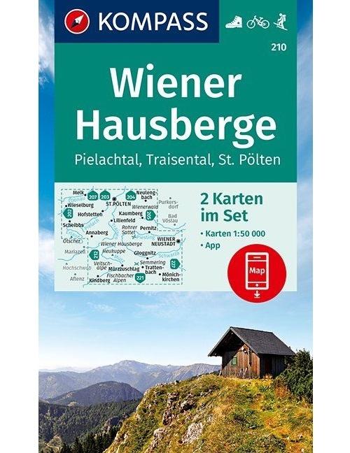 Kompass-Karten Gmbh,Wiener Hausberge, Pielachtal, Traisental, St. Pölten 1:50 000