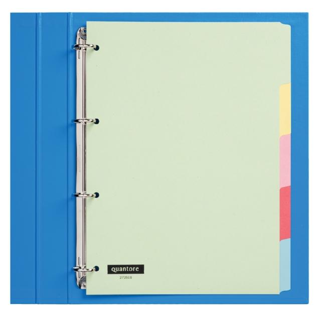 ,Tabbladen Quantore 4-gaats 5-delig assorti karton