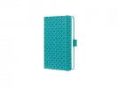 ,notitieboek Sigel Jolie Flair A6 hardcover gelinieerd Aqua  groen