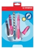 ,<b>Giftpack Stabilo Easyergonomics Experts roze links</b>
