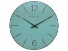 ,Wandklok NeXtime dia. 35 cm, bol glas, Turquoise, `Index    Dome`