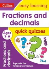 Collins Easy Learning Fractions & Decimals Quick Quizzes Ages 7-9