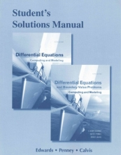 C. Henry Edwards,   David E. Penney Student Solutions Manual for Differential Equations