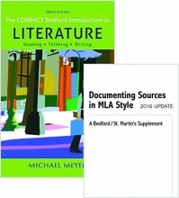 Meyer, Michael Compact Bedford Introduction to Literature 10e & Documenting Sources in MLA Style