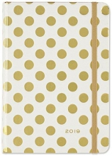 Gold Dots Weekly Planner 2019 Calendar