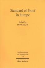 Tichý, Lubos Standard of Proof in Europe