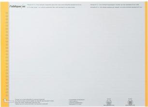 , Ruiterstrook Elba N 0 297x6mm verticaal geel