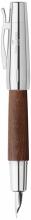 , vulpen Faber Castell E-motion chroom/ bruin perenhout M