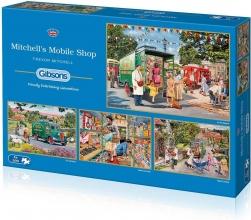 Gib-5040 , Puzzel gibsons mitchell`s mobile shop 4x500 stukjes elk 48x34xm
