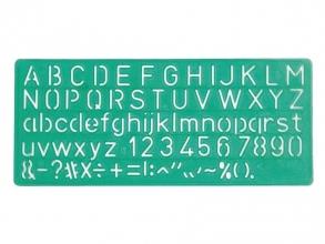 , Lettersjabloon Linex 10mm hoofdletters/letters/cijfers