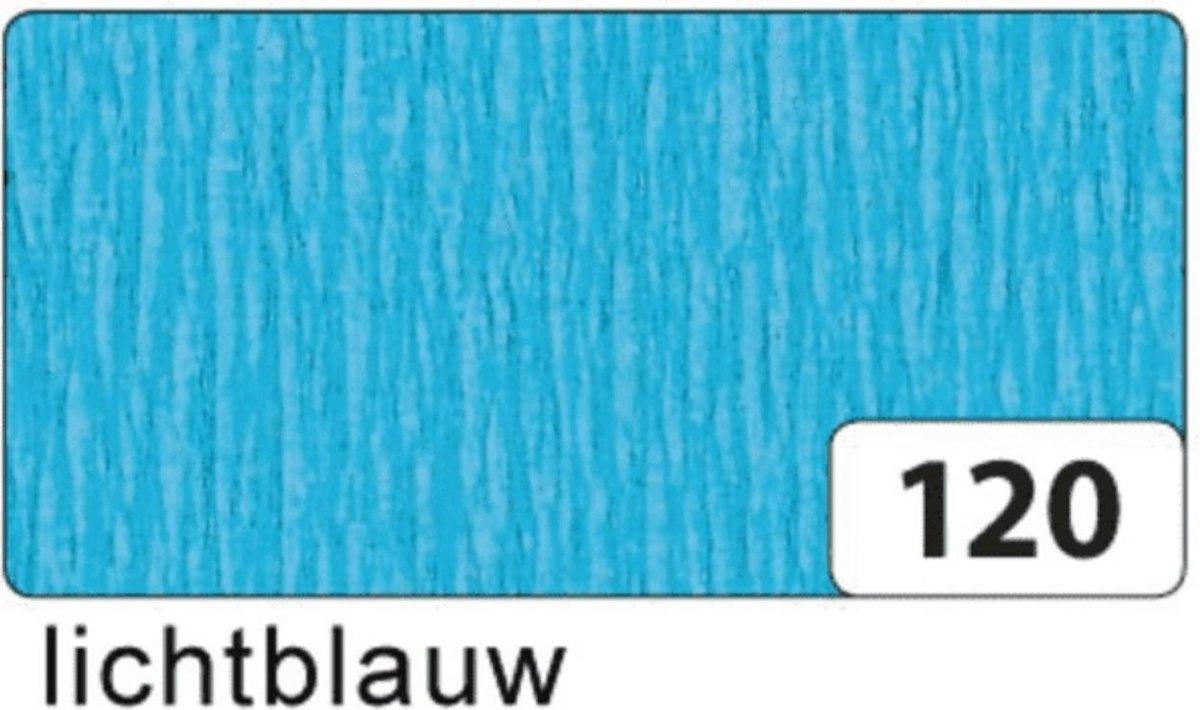 ,Crepepapier folia 250x50cm nr120 lichtblauw