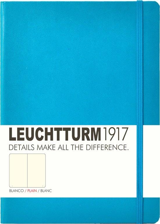 Lt346696,Leuchtturm notitieboek medium 145x210 blanco azuurblauw