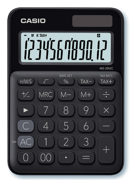 ,Rekenmachine Casio MS-20UC zwart