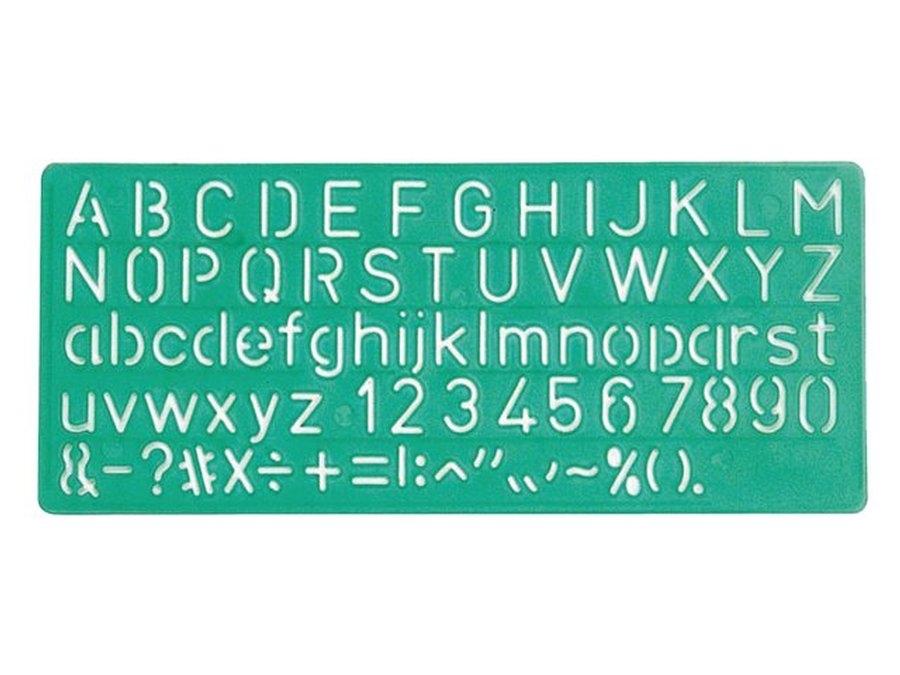 ,Lettersjabloon Linex 10mm hoofdletters/letters/cijfers