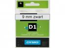 , Labeltape Dymo 40910 D1 720670 9mmx7m zwart op transparant