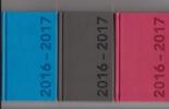 <b>516cur110</b>,Schoolagenda 2016-2017  Cursus De Luxe A6 Blauw, Rood Of Zwart