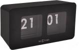 , tafelklok NeXtime 9.2x17.5x9.6cm, zwart, plastic