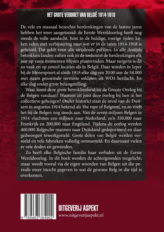 Henk van der Linden,Het Grote verdriet van België 1914-1918