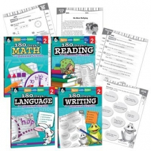 Teacher Created Materials 180 Days of Practice Grade 2 Bundle (Grade 2)