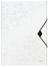 , Elastomap Leitz WOW A4 3 kleppen PP wit