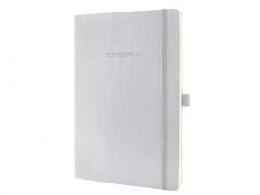 , notitieboek Sigel Conceptum Pure softcover A4 lichtgrijs    gelinieerd