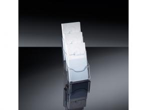 , folderhouder Sigel tafelmodel 3xDIN lang transparant