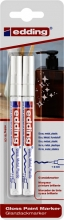 , Viltstift edding 751 lakmarker rond 1-2mm blister à 2 stuks wit
