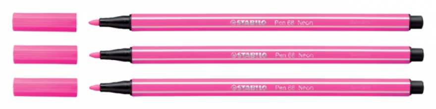 , Viltstift STABILO Pen 68/056 neon roze